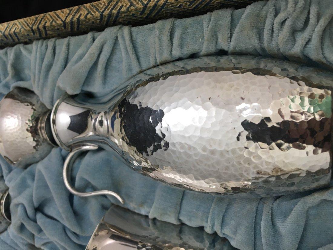Japanese Rare 19th-Century Pure Silver Sake Set - 4