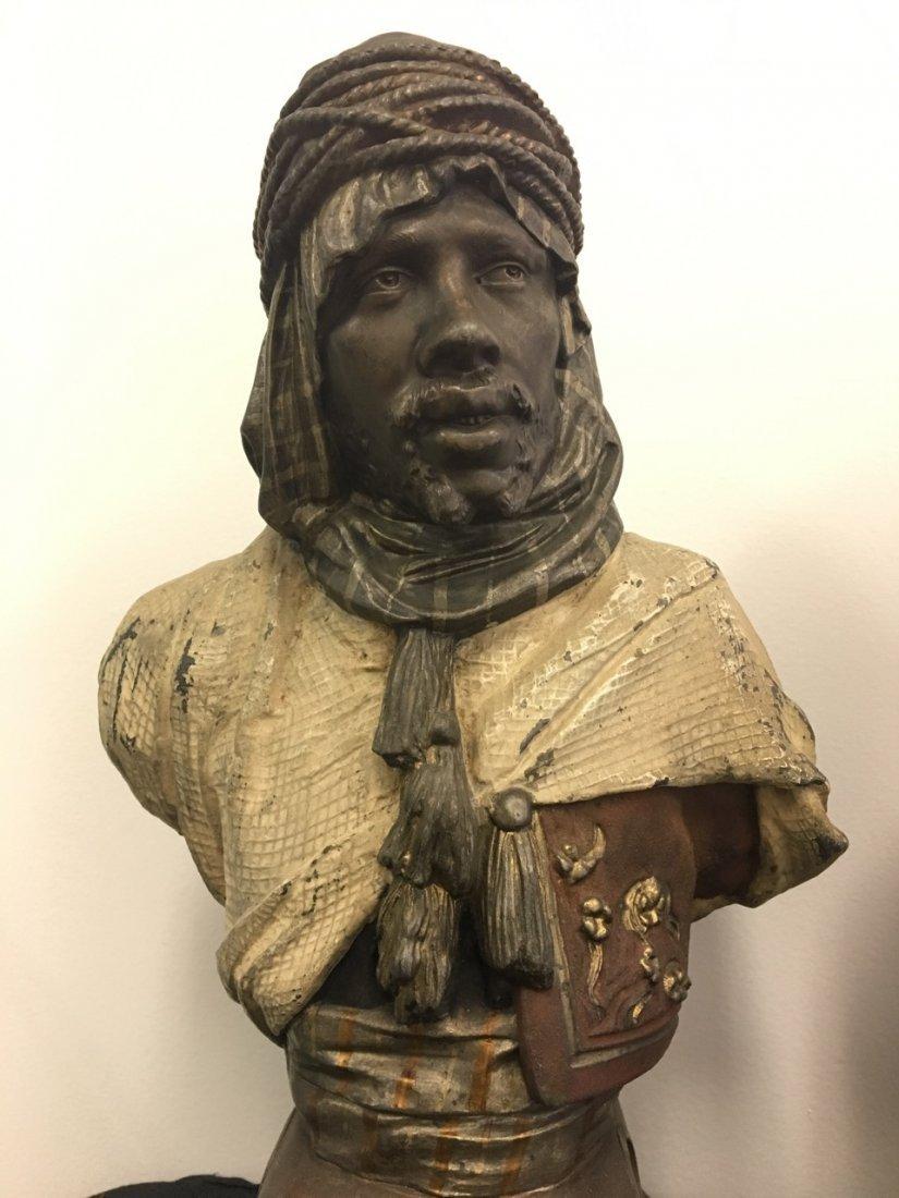 Pair of Metal Oriental Subject (Arabic) Busts - 2
