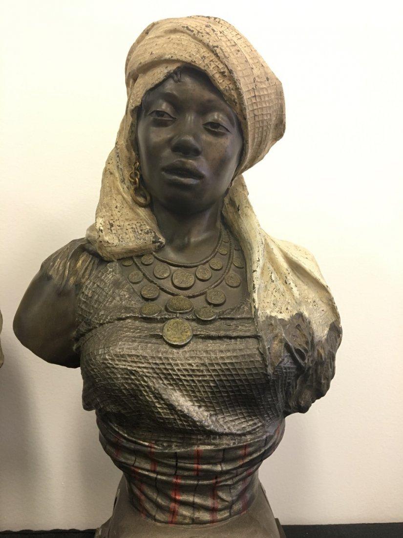 Pair of Metal Oriental Subject (Arabic) Busts - 3