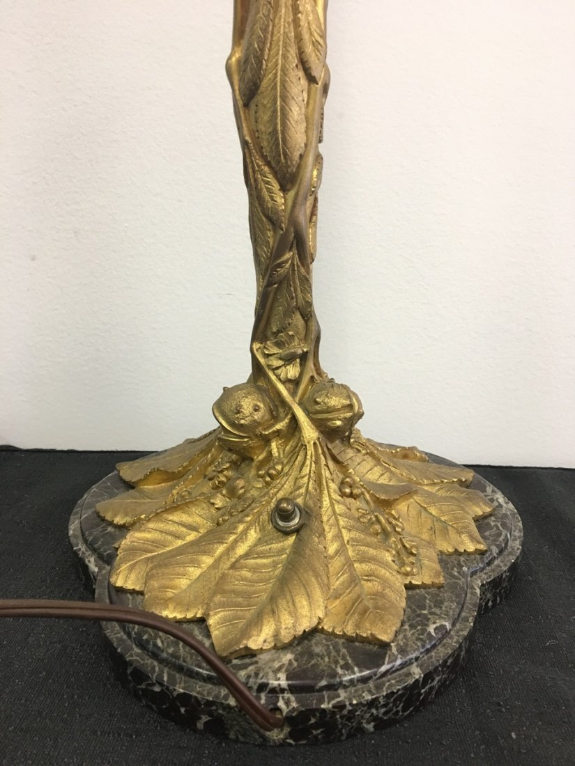 Bronze and Marble Candelabra Made into Lamp - 2