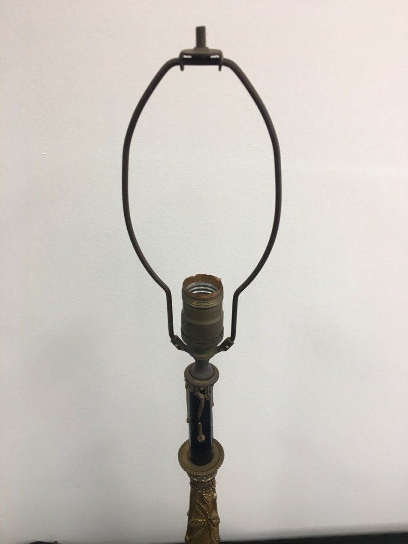 Bronze and Marble Candelabra Made into Lamp - 3