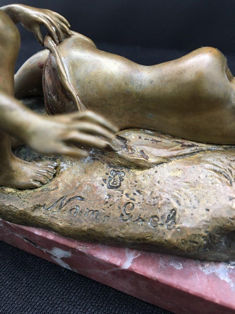 Nam Greb (Bergman) Austrian Bronze Erotic Figure - 3