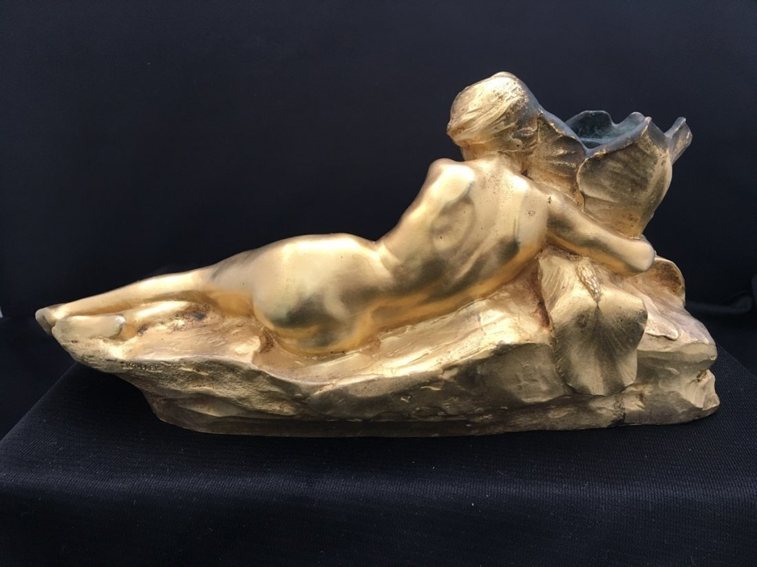 Maurice Bouval Art Nouveau Bronze Inkwell - 5