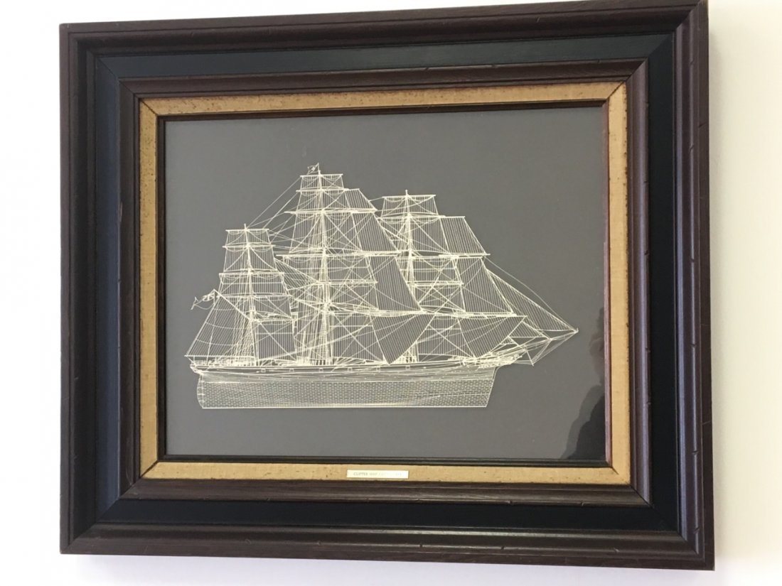 Sterling Silver Diorama of the Clipper Ship Cutty Sark