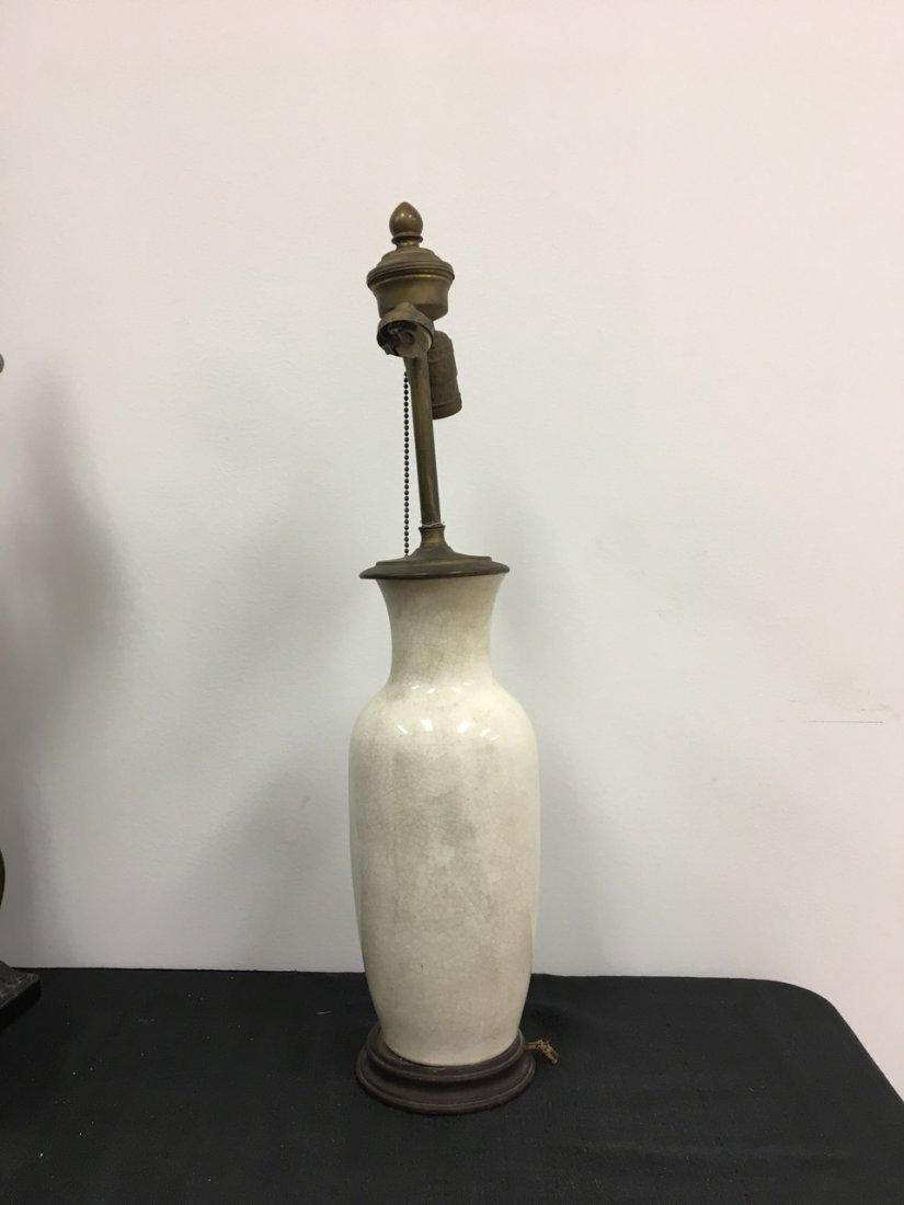 Chinese White Porcelain Lamp