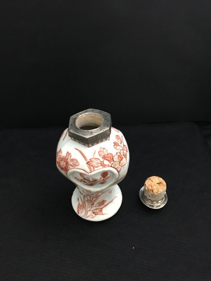 Chinese 19th-Century Silver Mounted Tea Caddy - 3