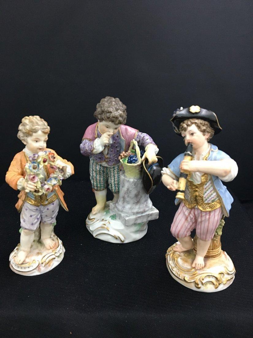 Three Meissen 19th-Century Figures