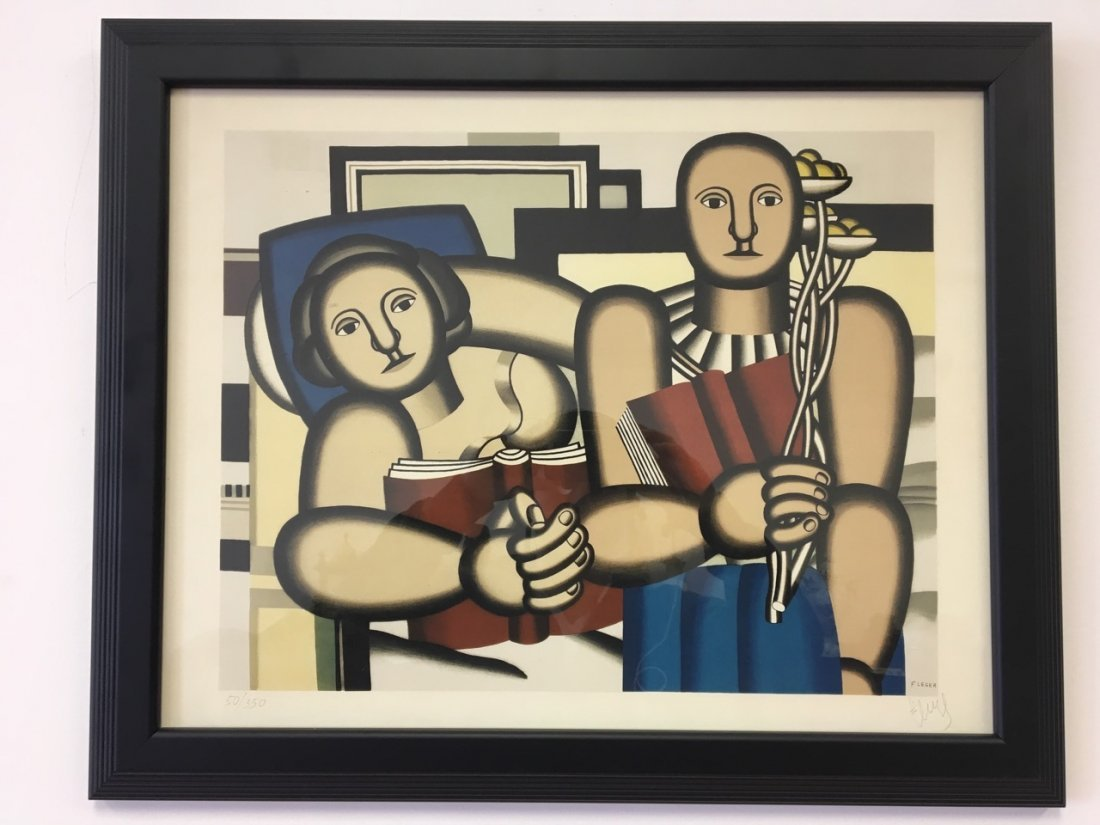 Fernand Leger Attributed Lithograph No. 50/350