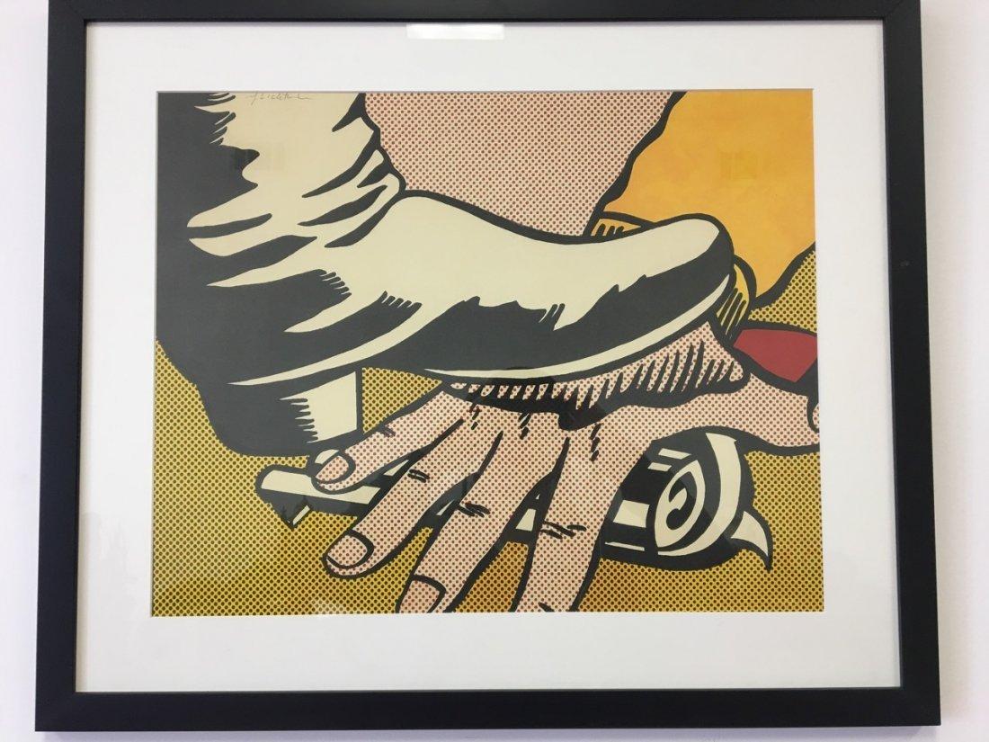 Lichtenstein Attributed Silk Screen (signed)
