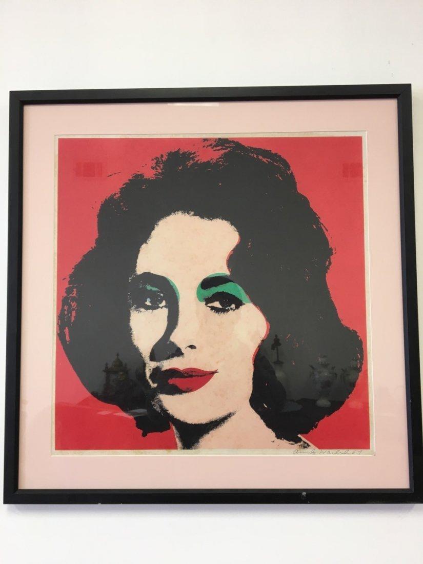 Andy Warhol Attributed Elizabeth Taylor