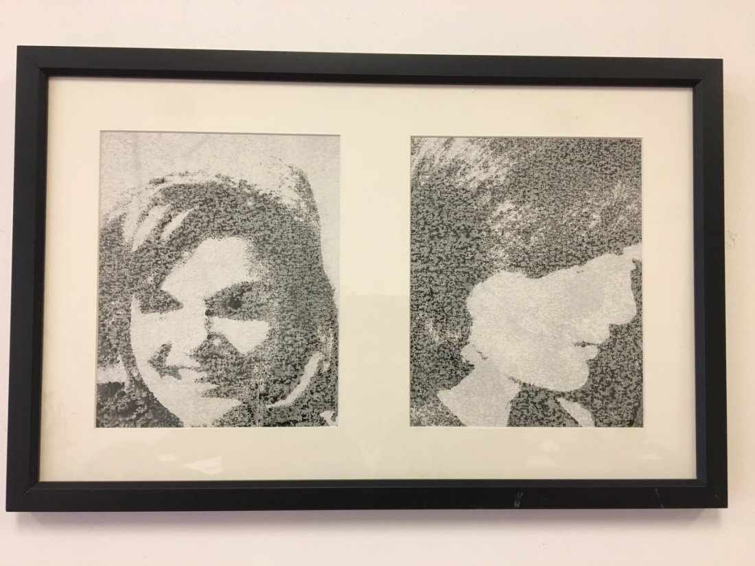 Andy Warhol Attributed Jackie (signed)