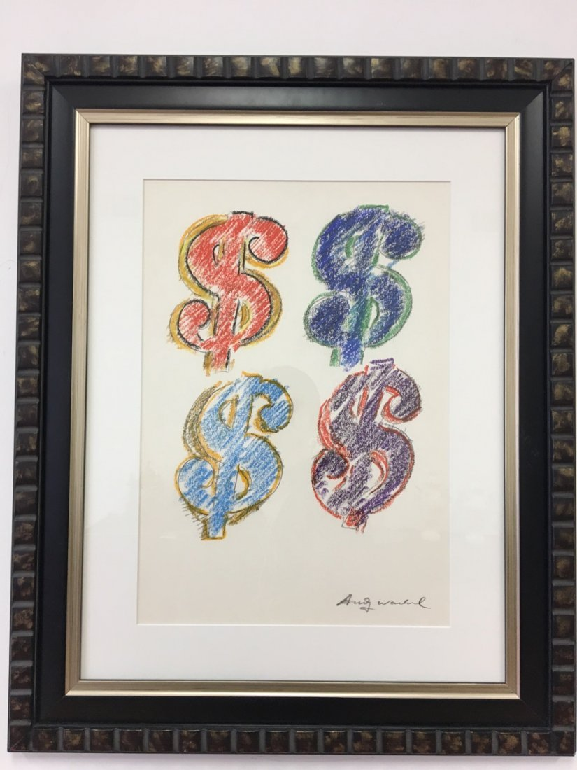 Andy Warhol Attributed Dollar Signs