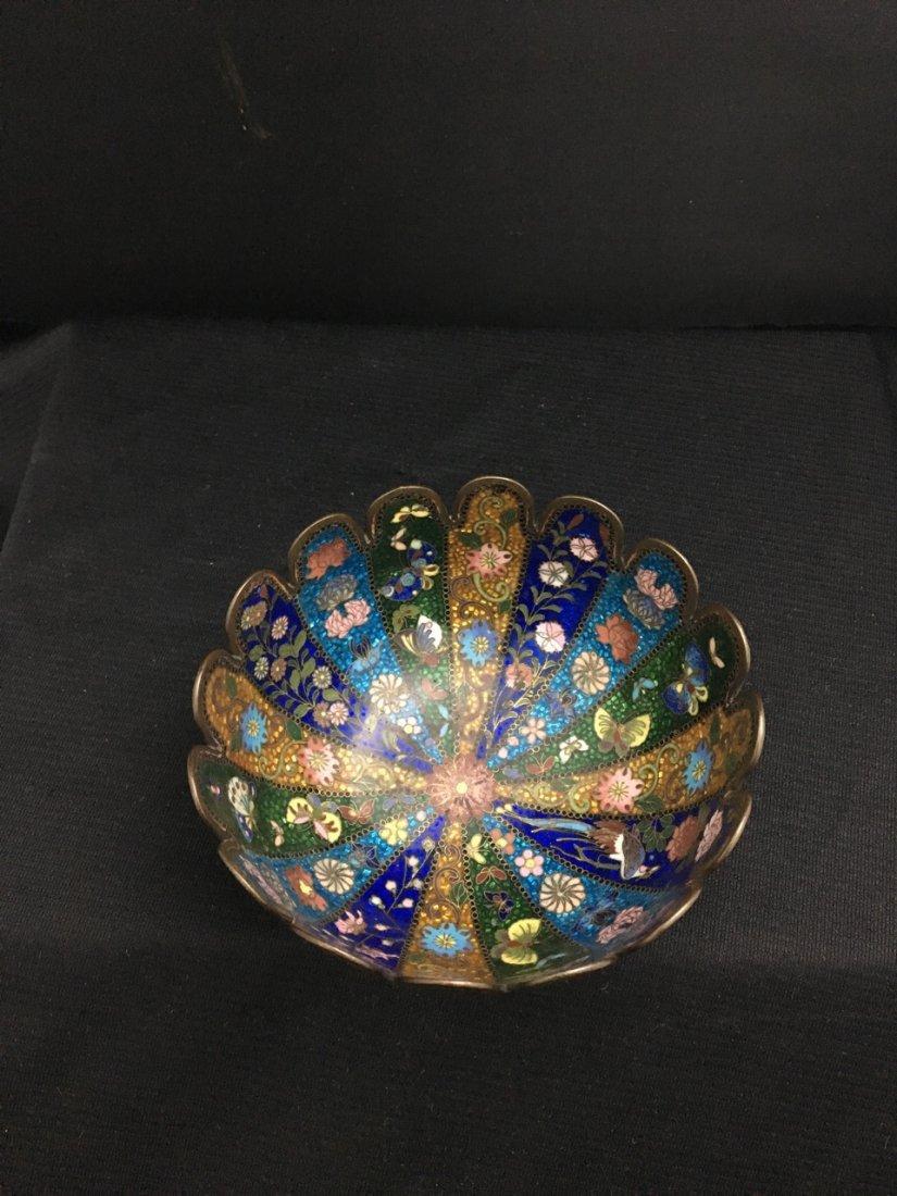 Japanese Pair of Meiji Period Cloisonné Bowls - 2