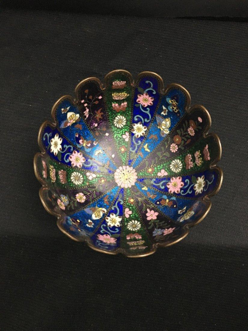 Japanese Pair of Meiji Period Cloisonné Bowls - 4