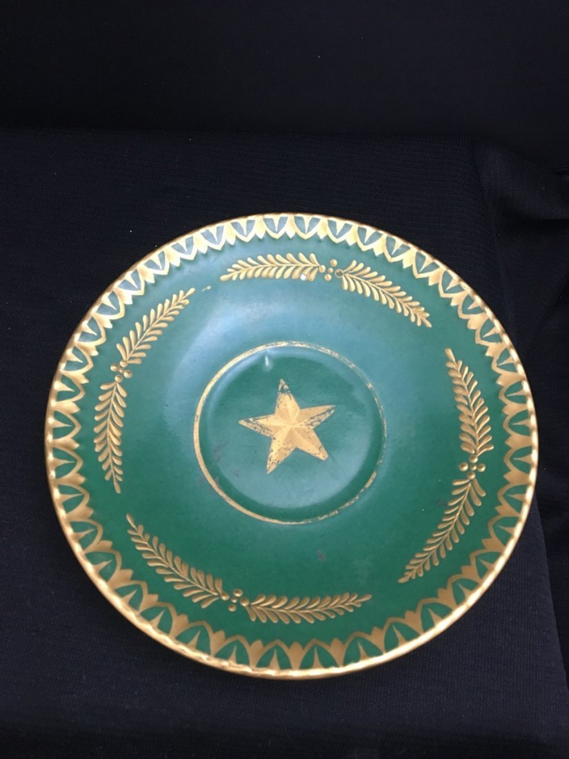 Large Green Cup with Attributed Saucer, likely Sevres - 3