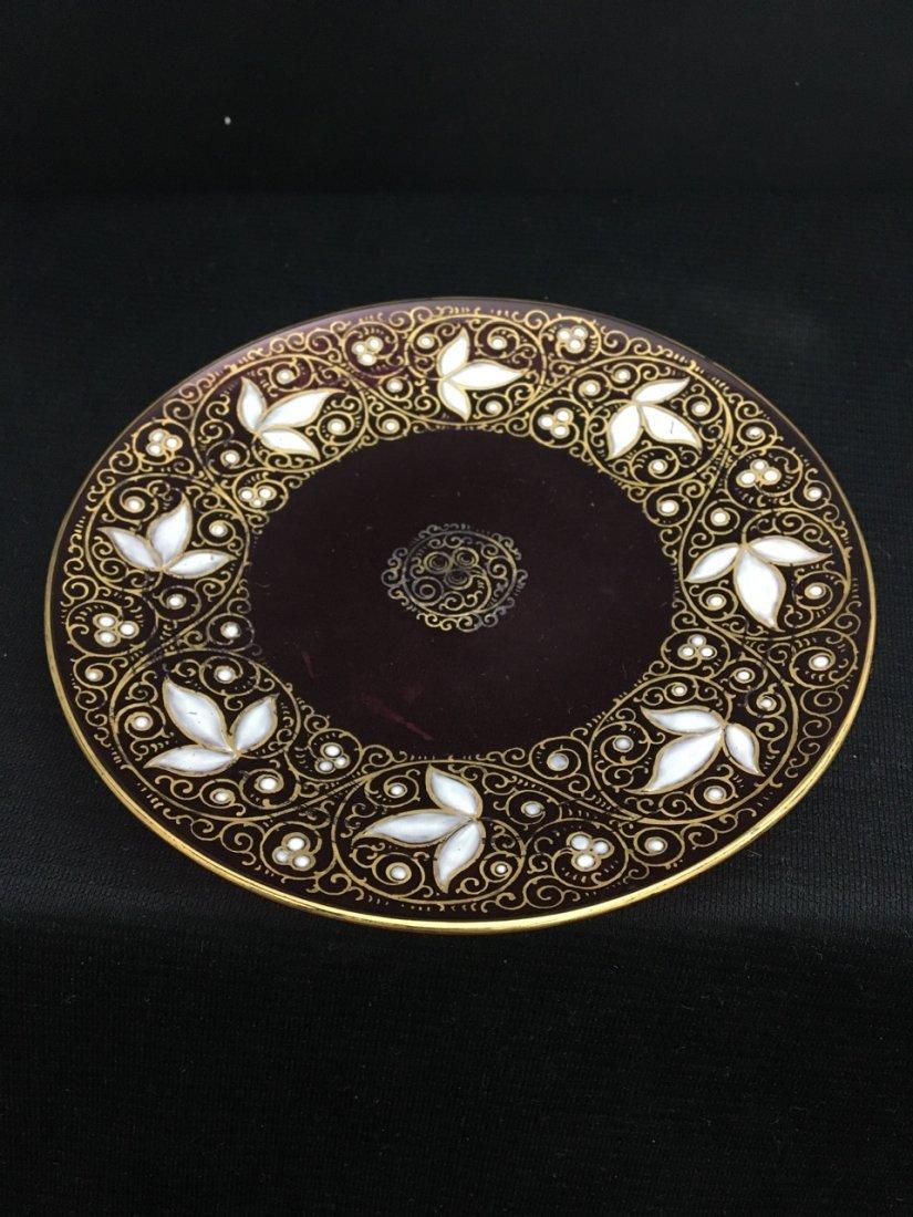 Three 19th-Century Enamel Moser Bowls and Plates - 3