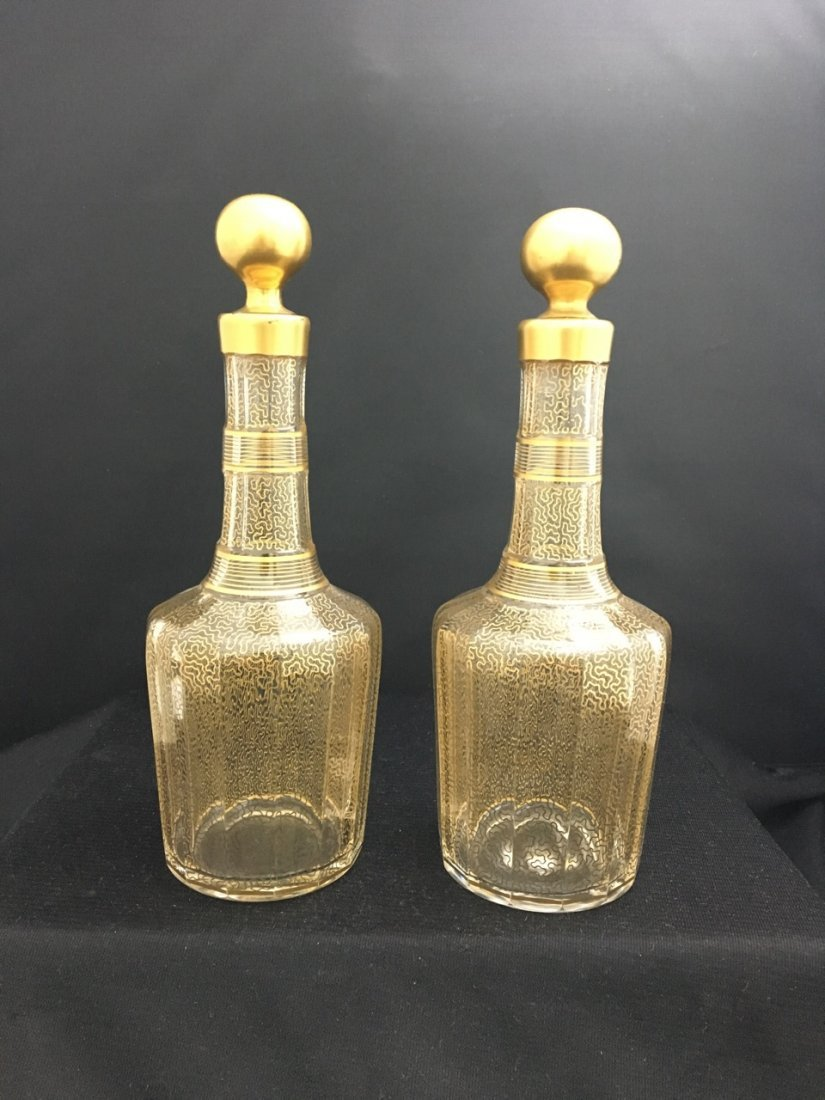 Baccarat Set of Two Bottles and Plate with Bronze Mount - 3