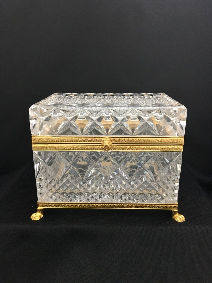 European Crystal and Bronze Box