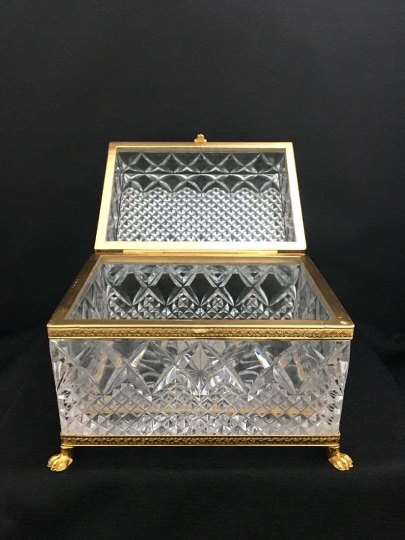 European Crystal and Bronze Box - 2