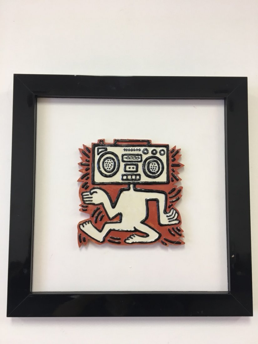 Keith Haring Ceramic Tile (Radiohead)