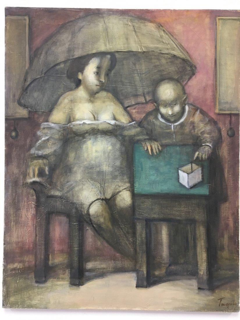 "Taguhi Barsegin Russian Artist, ""Waiting"" Oil on canvas"