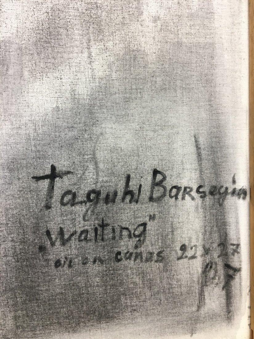 "Taguhi Barsegin Russian Artist, ""Waiting"" Oil on canvas - 3"