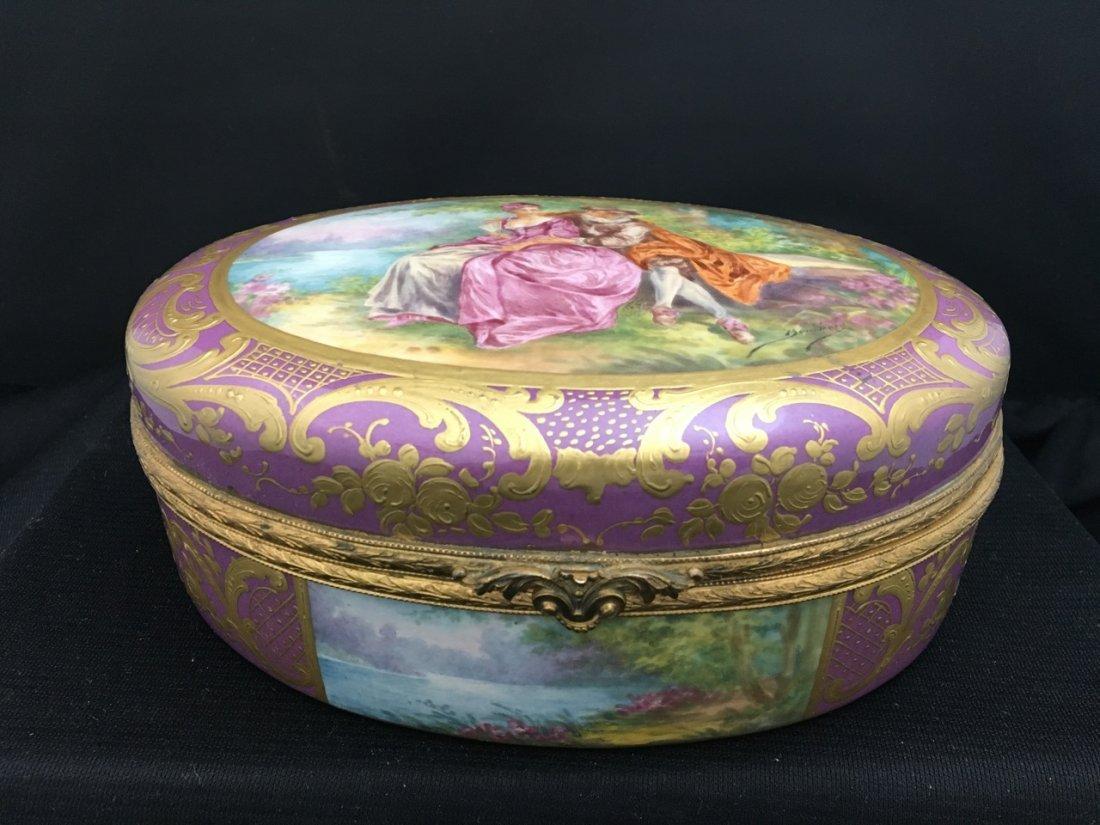 Sèvres Style Oval-Shaped Portrait Box