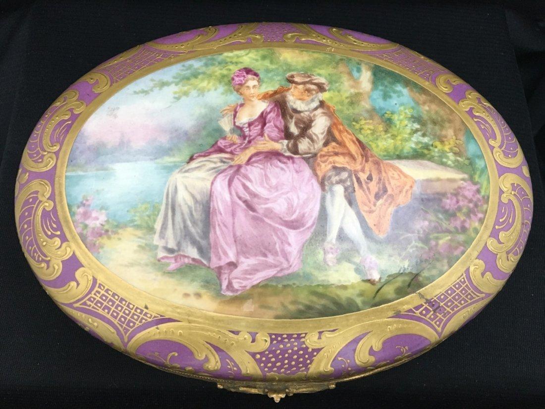 Sèvres Style Oval-Shaped Portrait Box - 2