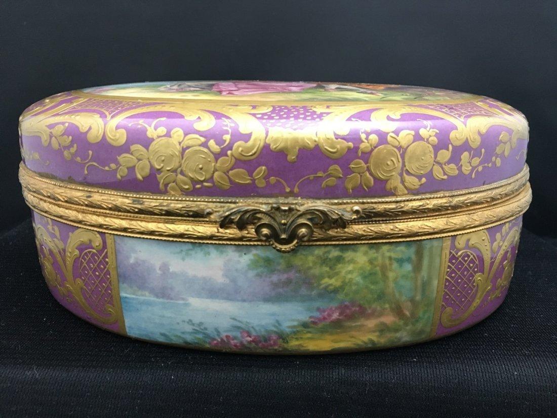 Sèvres Style Oval-Shaped Portrait Box - 3
