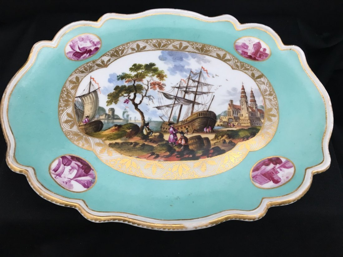 Meissen Footed Tray, 19th-Century - 2