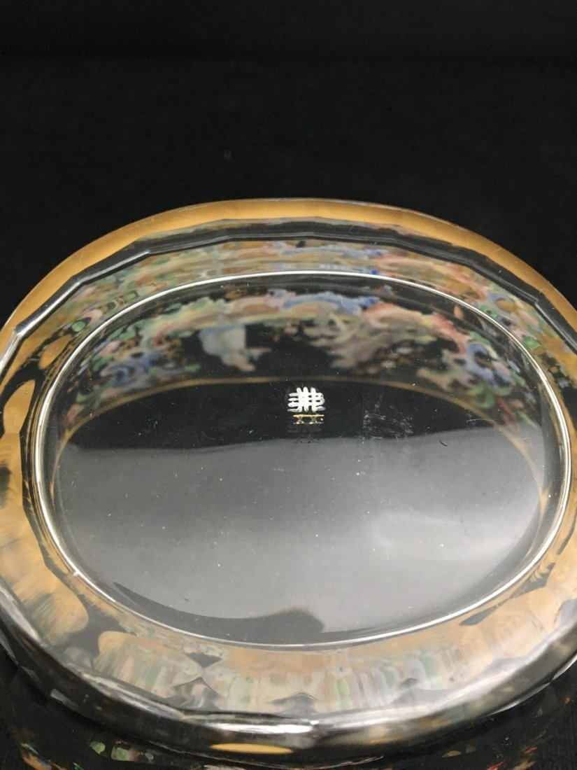 Lobmyer Enameled 19th-Century Bowl and Tray - 2