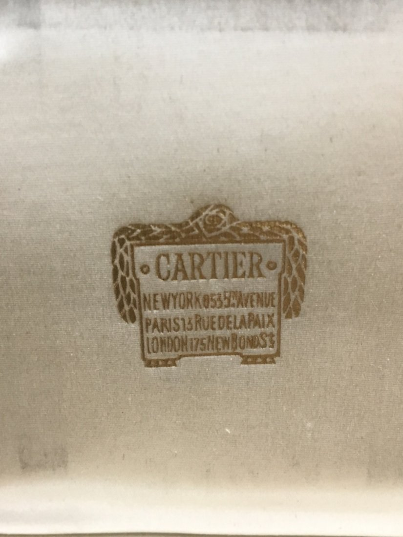 Cartier Art Deco Silver and Gold Powder Box - 2