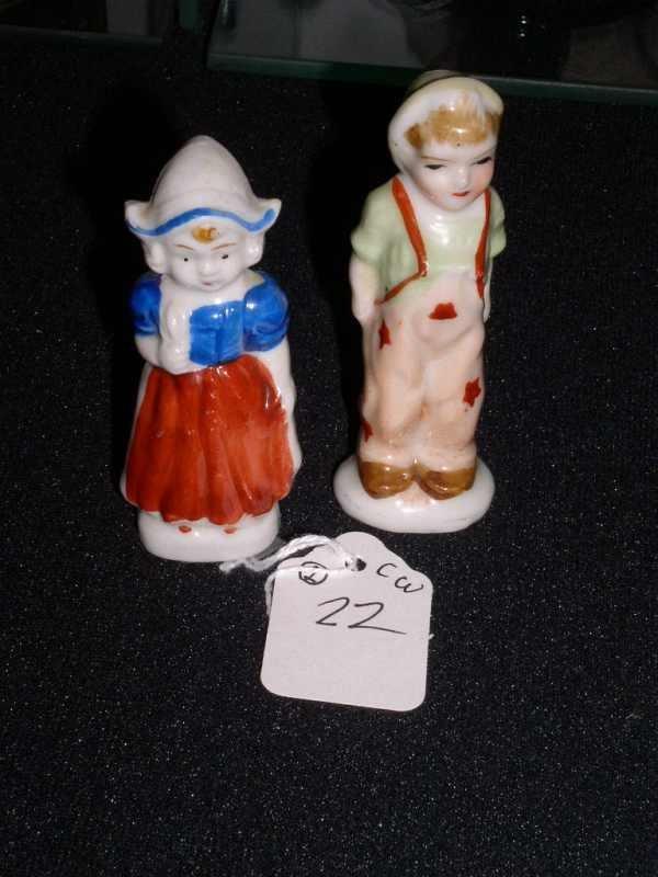 22: Pair made in Japan figurines