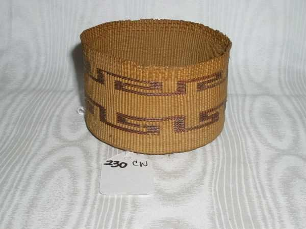 230: Old Small Tlingit Native American Basket