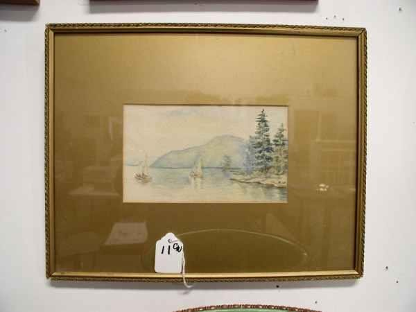 11: Watercolor landscape Watercolor is 7 in wide