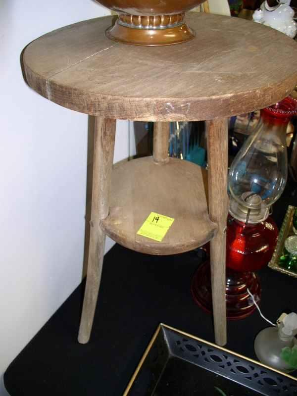 14: Primitive pine table 22 in tall