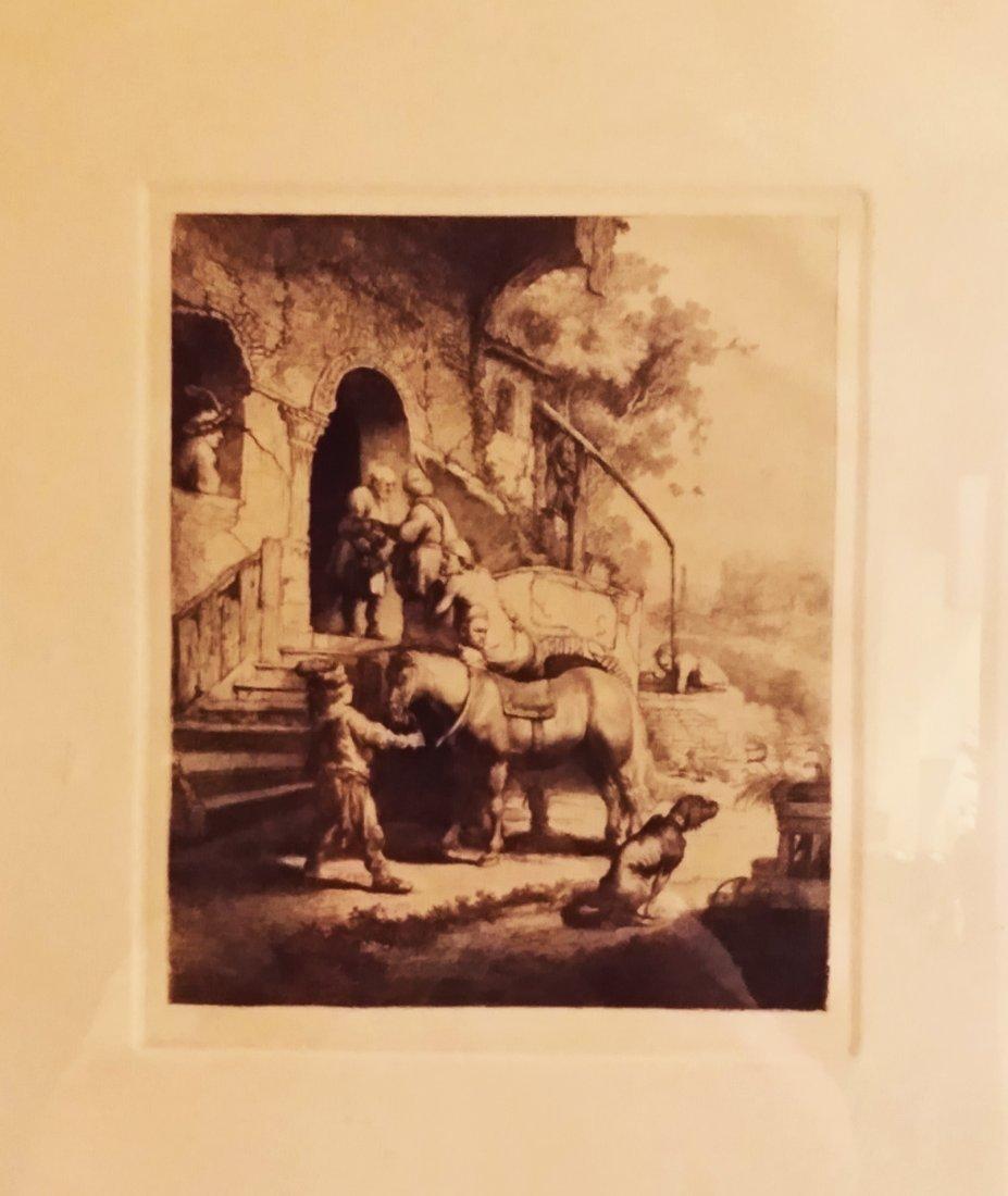 "Amand Durand etching Rembrandt's ""THE GOOD SAMARITAN"""