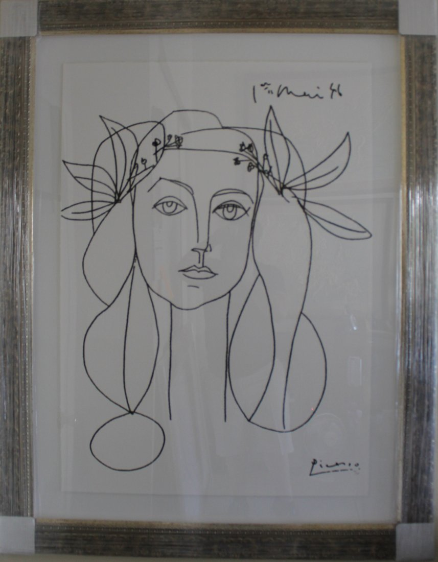 Large Piccasso gilcee print Head of a Woman