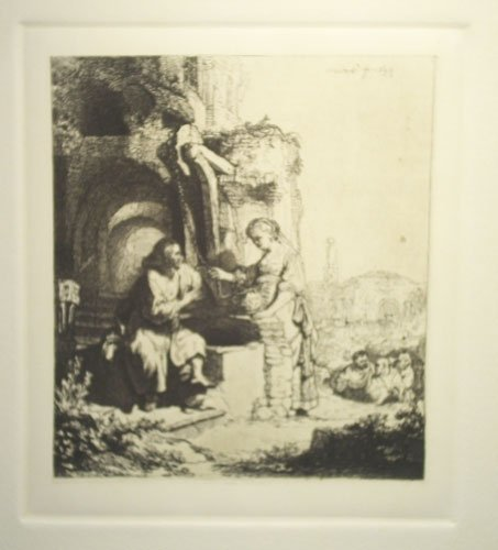 "Amand Durand \""Christ & Woman from Samaria among"