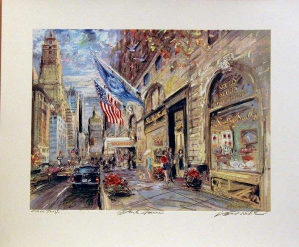 757: Kamil Kubik, Park Avenue, Signed Serigraph