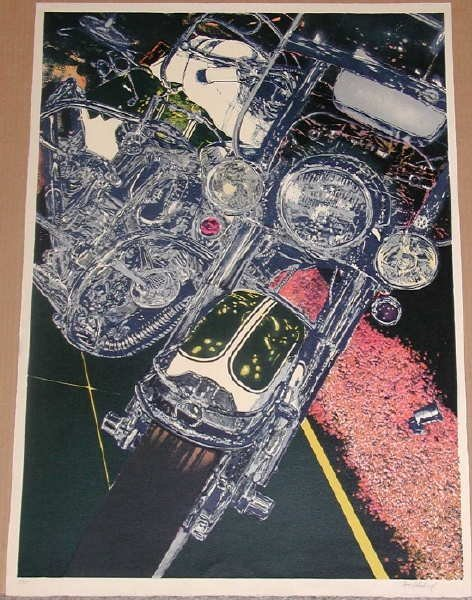 323: Tom Blackwell, 56 Harley, Signed Lithograph