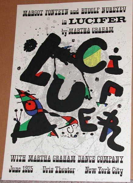 643: Joan Miro, Lucifer, Original Lithograph Poster
