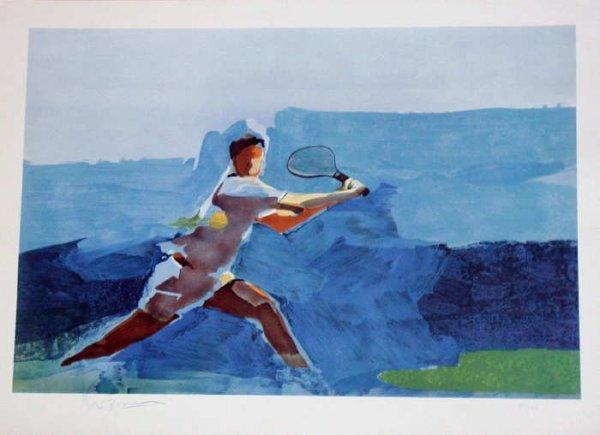 280: Steve Kuzma, Tennis, Signed Lithograph