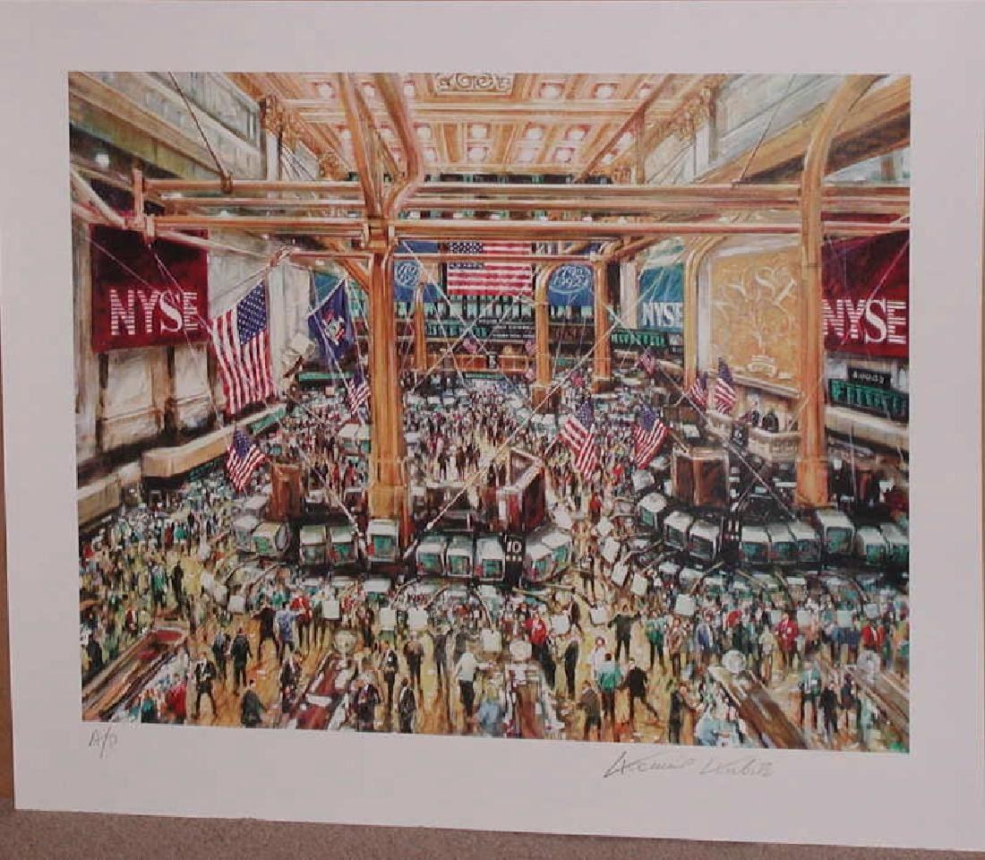 Kamil Kubik, The Floor of the NYSE Signed Serigraph