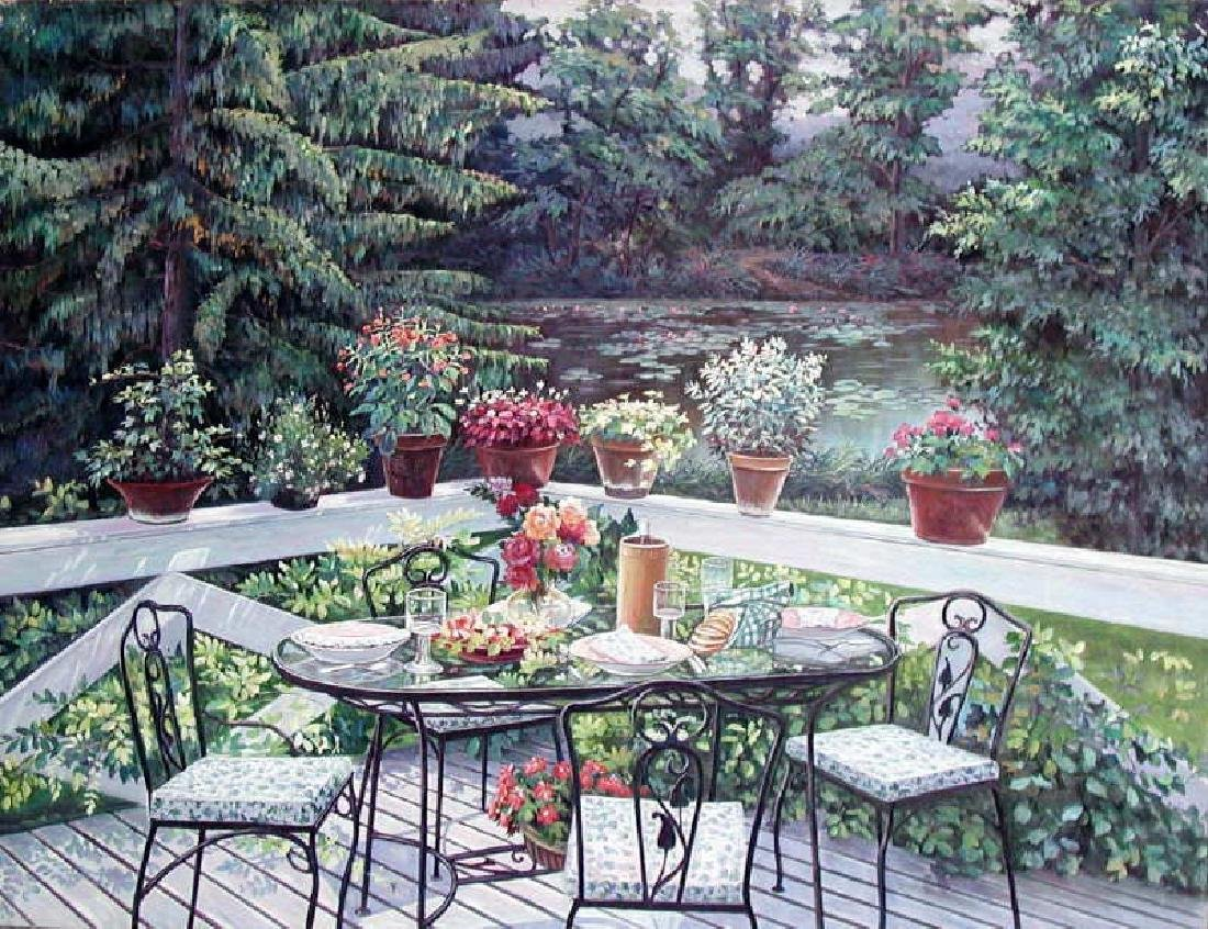 Peter Ho, Back Porch, Oil on Canvas
