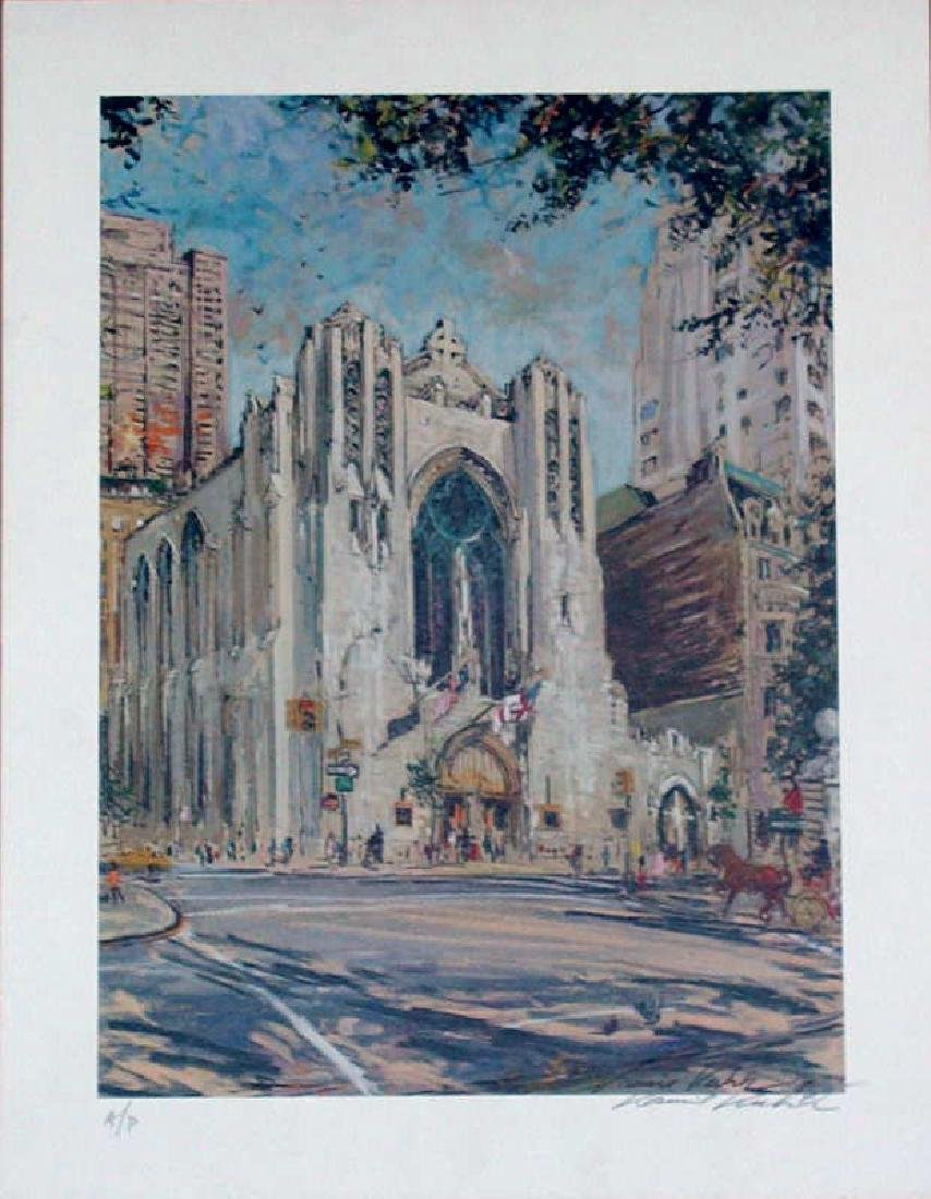 Kamil Kubik, Church of Heavenly Rest, Signed Litho