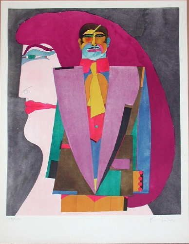 311: Richard Lindner, Portrait No. 1, Signed Lithograph