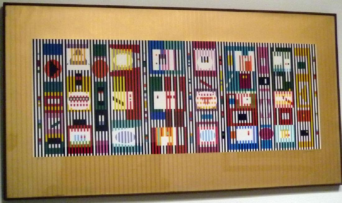 Yaacov Agam, Coordination II, Signed and Framed