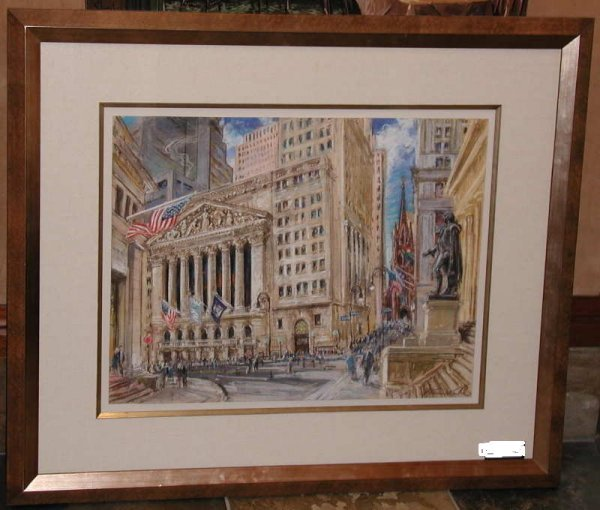 755:  Kamil Kubik, NY Stock Exchange, Signed Pastel