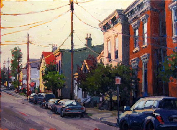 603B: Shelby Keefe, Late Light, Oil on Canvas
